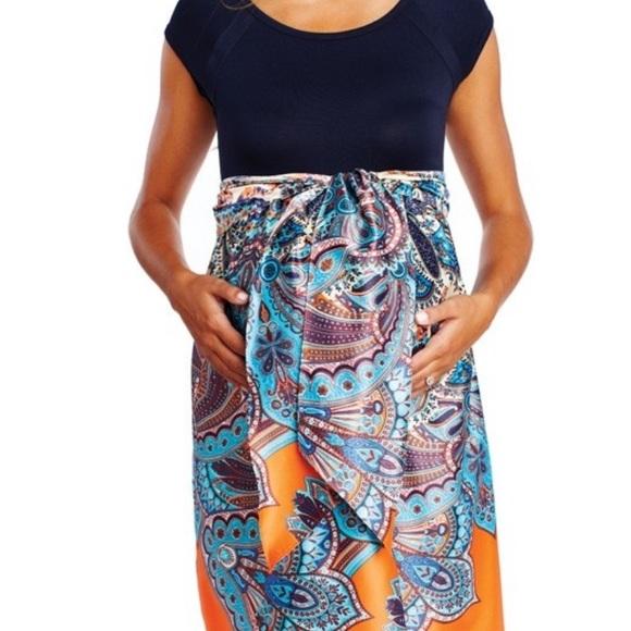 Maternal America Dresses & Skirts - Maternity dress w/scoop neck and empire waist